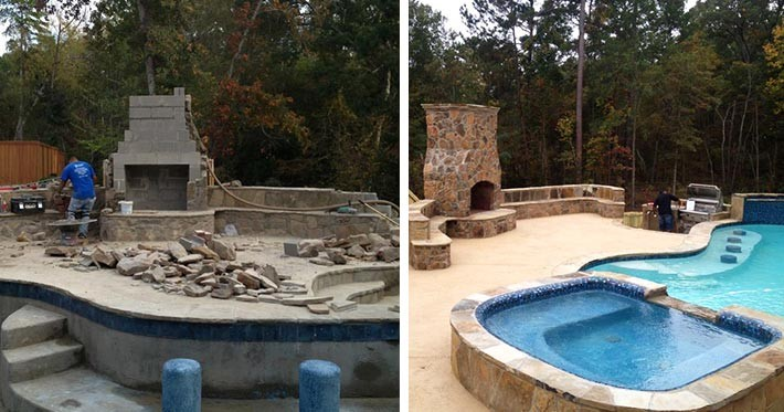 Pattern Or A Pool That Feels Like It Was Always There Part Of The Landscape We Ll Help You Build Swimming Your Backyard Deserves